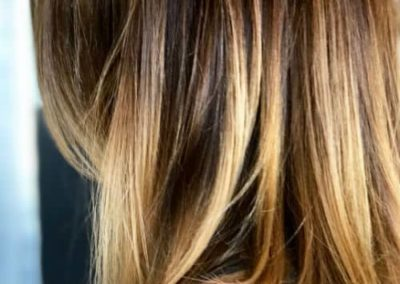 Mix: Blonde ombré hair color