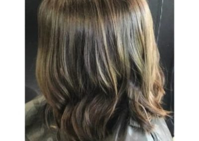 Brunette: Long bob haircut & Shine Glaze
